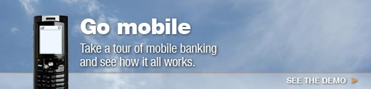 Take a tour of mobile banking