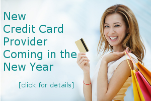 New Credit Card Provider Coming in the New Year